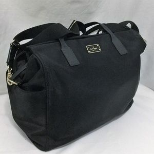Kate Spade Kaylie Diaper Bag Black Large Tote